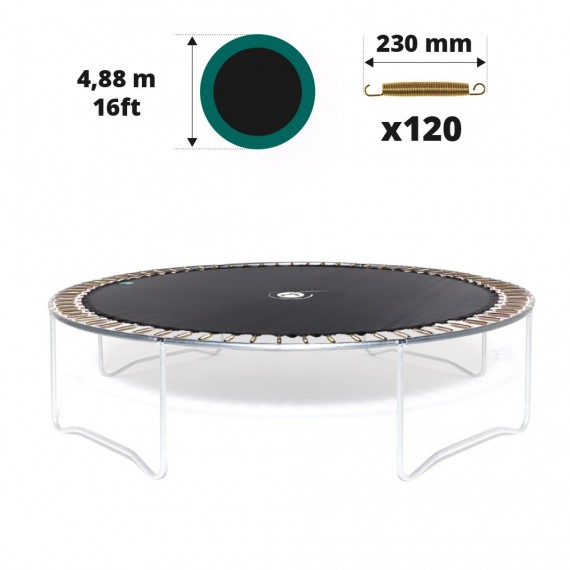 16ft trampoline jumping mat for 120 springs of 230 mm