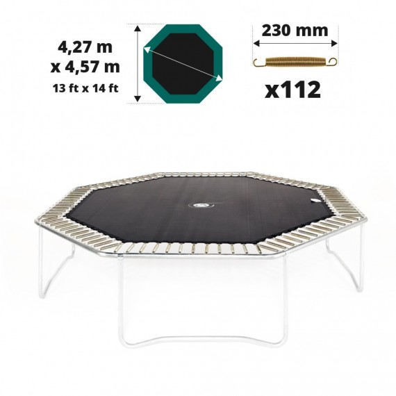 toile de saut pour trampoline octogonale avec 112 ressorts. Black Bedroom Furniture Sets. Home Design Ideas