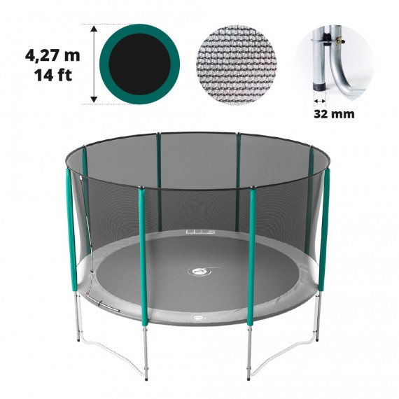 14ft trampoline net for 8 posts