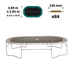 Toile de saut pour trampoline Ovalie 490 à 84 ressorts 230mm