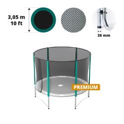 Filet avec 6 montants pour trampoline Ø 305 Premium