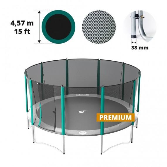 Filet avec 10 montants pour trampoline Ø 457 Premium