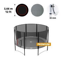 Filet avec 8 montants pour trampoline Ø 366 Premium