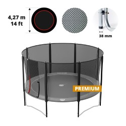 14ft Premium trampoline net for 8 posts