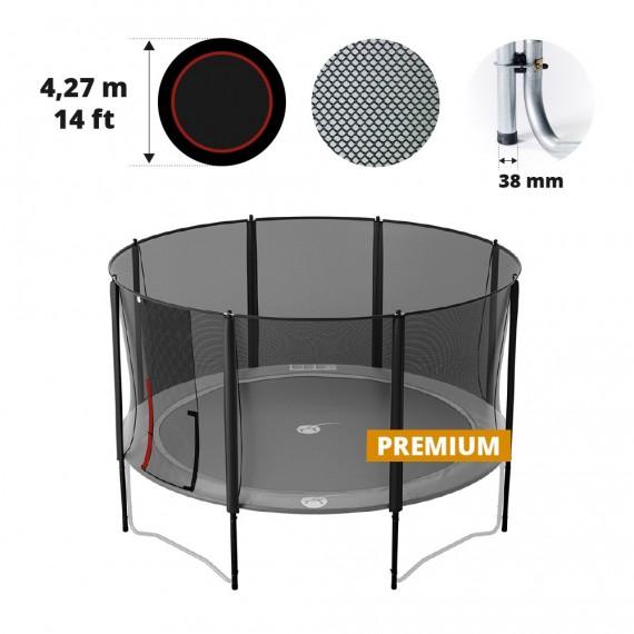 Filet avec 8 montants pour trampoline Ø 427 Premium