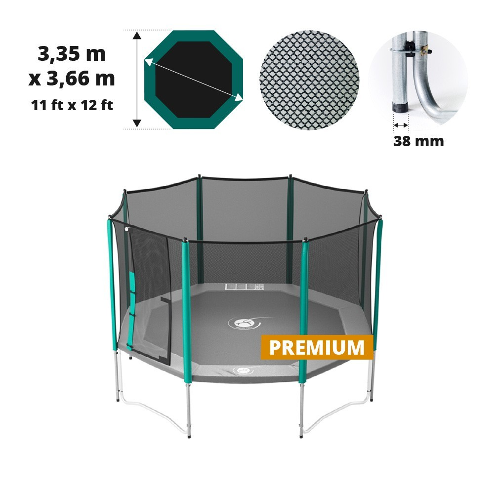 enclosure for your recreational waouuh 360 trampoline. Black Bedroom Furniture Sets. Home Design Ideas