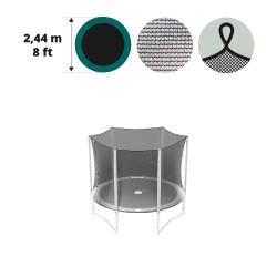 Filet textile avec sangles pour trampoline 250