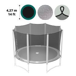 Filet textile avec sangles pour trampoline 430