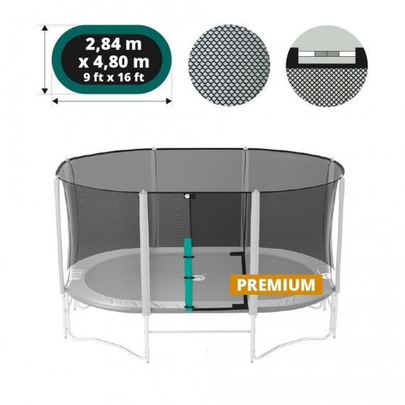 16ft Ovalie Premium trampoline net