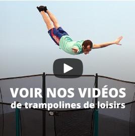 Voir nos vidéos de trampolines de loisirs