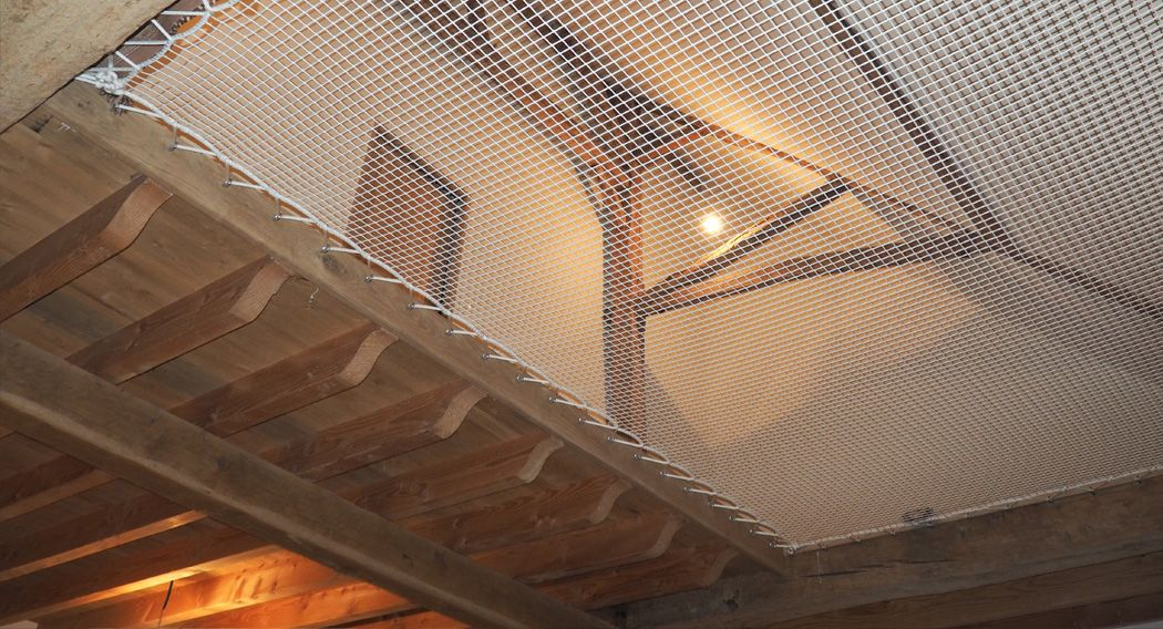 Suspended house net test by Emilie D.