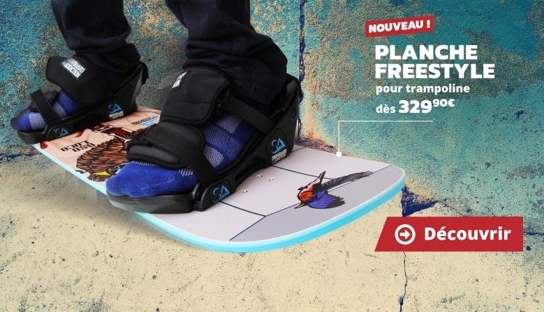 Nouveau : planche freestyle pour trampoline !