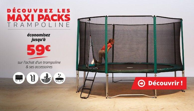 Jusqu'à 59€ de réduction sur votre trampoline et ses accessoires