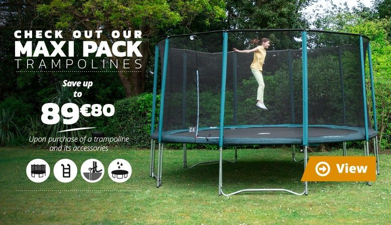 Check out our MAXI PACK trampolines