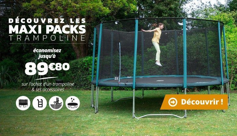 Jusqu'à 89€80 de réduction sur votre trampoline et ses accessoires
