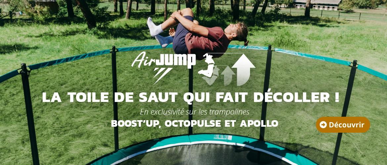 Découvrez la toile de saut AirJump