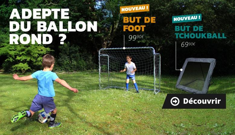 Du nouveau pour les adeptes du ballon rond : but de foot et but de tchoukball !