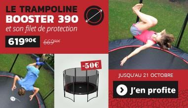 -50€ sur le trampoline Booster 390 !