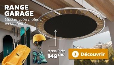 Range-garage : stockez votre materiel en hauteur !