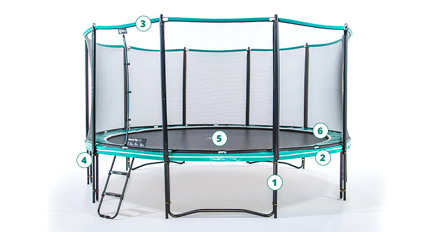 Drawing leisure trampoline