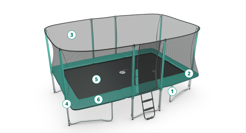 Drawing leisure trampoline