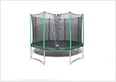 Round recreational trampoline