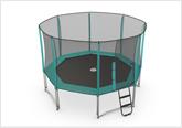 Octagonal trampoline range
