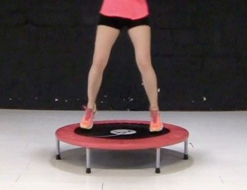 Entrainement mini trampoline