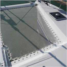 Braided boat netting