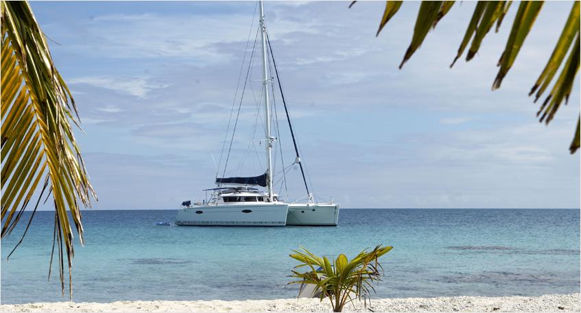 Trampoline pour catamaran