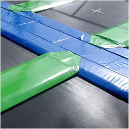 Top view Aero trampoline frame pads