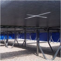 Top view jumping mat Aero trampolines