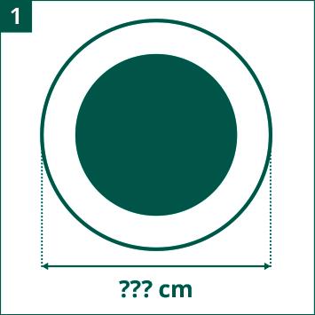 Evaluer le diamètre du trampoline de loisirs