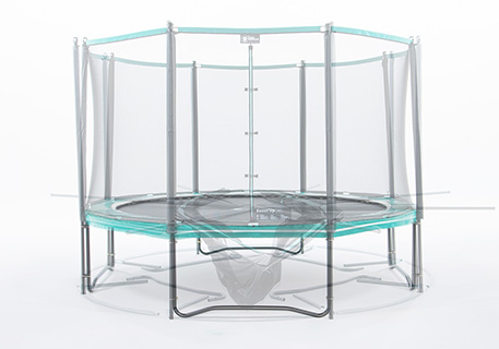 Recreational trampoline assembly guide