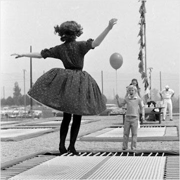 Some history of the modern trampoline