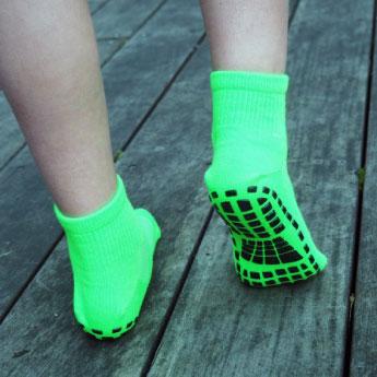 Les chaussettes antidérapantes