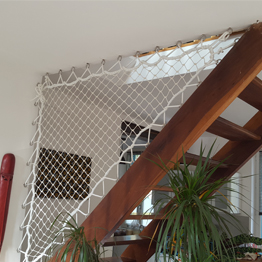 filet de protection pour escalier