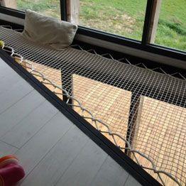 Suspended net for corner