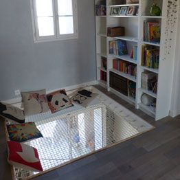 Suspended ner for reading space