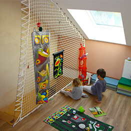 Playful guardrail for a child's room