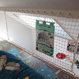 Guardrail for a mezzanine net