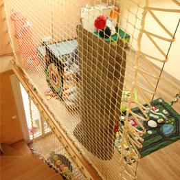 Rambarde d'escalier pour salle de jeux d'enfant en filet de sécurité