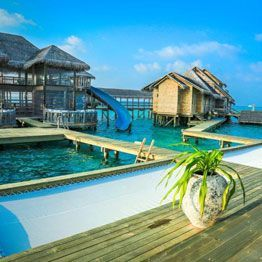 Sunbed net - Hotel on stilts