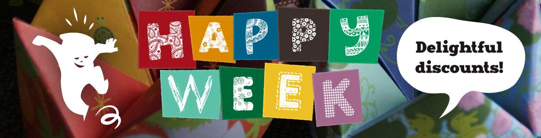 Happy week: delightful discounts!