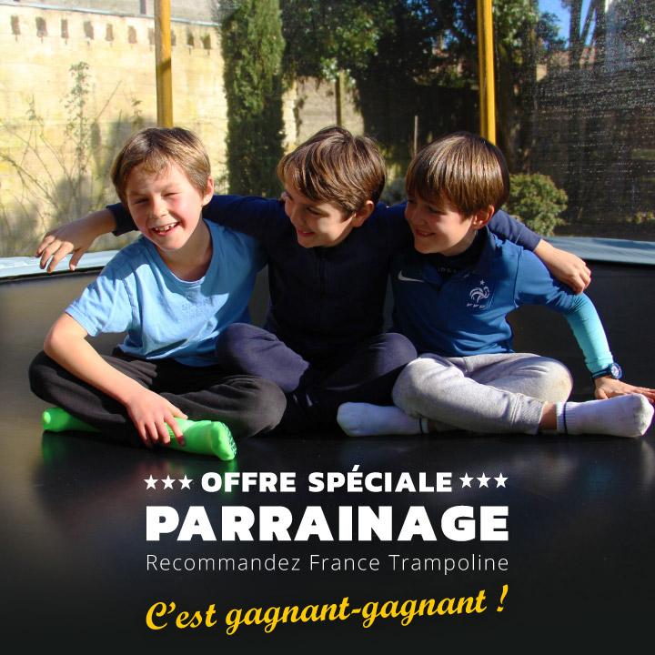 Recommandez France Trampoline & faites le plein d'avantages !