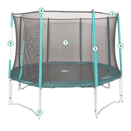 pièces de rechange pour trampolines : plus de 200 pièces en stock